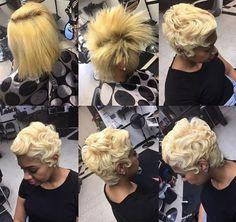 Short Haircuts: Gorgeous transformation by @rebel_stylist  blackhairinformat