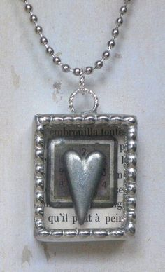 Soldered Jewelry Ideas | Soldered Shadowbox Pendant Necklace with Vintage ... | jewelry ideas