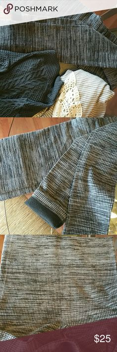 NEW Charcoal high waist tumy t. Leggings So soft and cozy,  gives a slimming shape, and at the same time super comfortable,   Cotton blend  Small to medium  wich fits from size 1-7 The top and the stripe crochet  cardigan showed case at the pics are also available in my closet. Pants Leggings