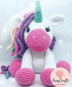 Best 12 Toy Unicorn unicorn amigurumi gift of the unicorn crochet Crochet Unicorn Pattern Free, Giraffe Crochet, Crochet Dinosaur, Crochet Animal Patterns, Stuffed Animal Patterns, Crochet Patterns Amigurumi, Amigurumi Doll, Crochet Toys, Kawaii Crochet