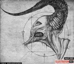 Plague Doctor concept art on Behance More ⚡ ⚡ ⚡ Votre boutique d'art HERE⚡ ⚡ ⚡ reference drawings ideasart sketches mediamosaic art art ideas art ideas journalling ideas painting deco inspiration fantasy street # Creepy Drawings, Creepy Art, Cool Drawings, Pencil Drawings, Demon Drawings, Satan Drawing, Arte Inspo, Kunst Inspo, Arte Horror