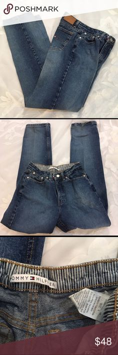 CCO Tommy Hilfiger Late 90's High Waisted Jeans Tommy Hilfiger late 90's high waisted medium wash jeans. In excellent preowned condition. Straight legs. Size 4. Vintage Jeans Straight Leg