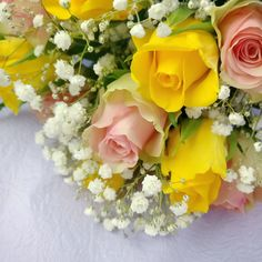 Roses and gypsophila :)  inspiration for my wedding flowers