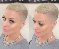 Shaved head grow out Edgy Short Hair, Super Short Hair, Short Blonde, Short Hair Cuts For Women, Short Hair Styles, Short Shaved Hairstyles, Girls Short Haircuts, Short Hairstyles For Women, Buzz Cut Women