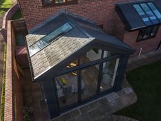 Discover a tiled conservatory roof that's also glazed with the Ultraroof. Tiled Conservatory Roof, Small Conservatory, Conservatory Extension, Conservatory Kitchen, Replacement Conservatory Roof, Orangery Roof, Conservatory Interiors, Conservatory Furniture, House Interiors