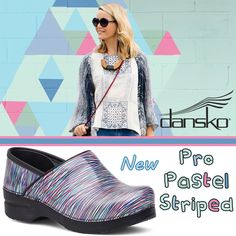 Check out the #new Professional #Pastel Striped by #Dansko for a cute take on the traditional clog with an amazing and comfortable fit with lots of support. Find them now on ClogsAndShoes.com. #casual #comfortable #womensfashion #womensshoes #scrublife #nurse #nurselife #nursing #clogs #shoes #fashionblogger #fashion #fashioninspiration #bosslady #bossbabe #cuteshoes #chef #hairdresser #lookbook #outfit #lookoftheday #ootd #outfitoftheday #art #fallfashion #fall