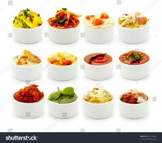 Sauces to the Italian pasta.On a white background. Just wonderful