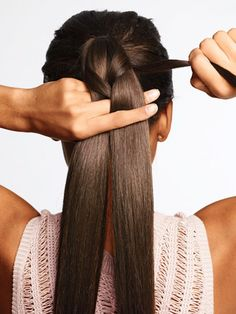 7. Do the whole braid this way, pulling tight as you go