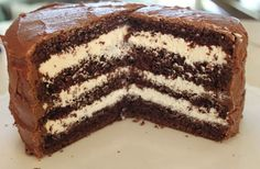 1 box devils food cake mix   8 oz. cream cheese softened   3 c powdered sugar   1 stick butter softened   8 oz. cool whip   1 t...
