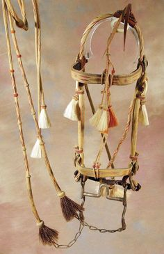 hitched horsehair bridal, Deer Lodge Prison in Montana, 1920s This'll be my head ranch horse's tack:)