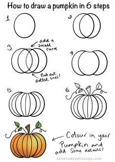 Cute Halloween Drawings, Fall Drawings, Halloween Art, Halloween Things To Draw, Halloween Painting, Halloween 2020, Halloween Pumpkins, Pencil Drawings, Pumpkin Drawing