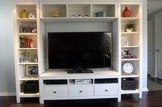 Ikea Hemnes media center - 2 small bookcases