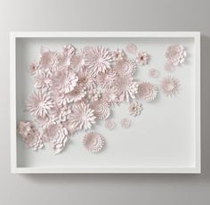 RH Baby & Child's Hand-Folded Paper Flower Art Large - Pink:Capturing the detail and delicacy of live floral specimens, the blooms in our plentiful paper bouquet are carefully laser cut and folded by hand for a display that's always in season.