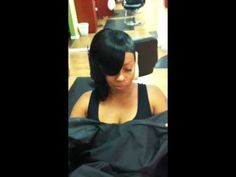 ▶ Layered Quick weave half bob - YouTube