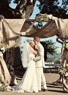 Outdoor wedding alter.