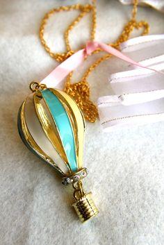 Blow Me Away. a hot air balloon necklace