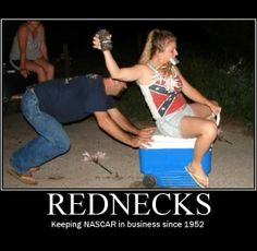 Redneck Nascar - Pushing a Cooler with Wheels and Drinking Beer - Epic Fail  ---- best hilarious jokes funny pictures walmart humor fail