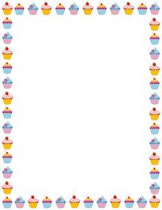 Cupcake Border