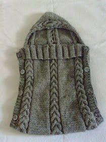 Santa Clara Artesanato: Sacos de Bebê Knitted Baby Clothes, Knitted Baby Blankets, Baby Blanket Crochet, Crochet Baby, Knit Crochet, Reverse Single Crochet, Half Double Crochet, Crab Stitch, Knitting Patterns