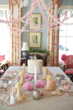 Vintage Tea Party Table  - Look at all the pics on this site---lovely little girl's party