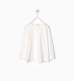 ZARA - ΠΑΙΔΙΚΑ - Μπλούζα με λεπτομέρεια γκιπούρ