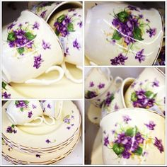 My new 'Vintage' Violets China set - as I am sure you'll understand...I just couldn't resist this!!