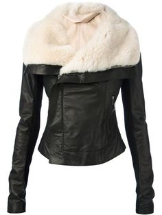 Rick Owens fur lined biker jacket from farfetch. Saved to jackets. Shop more products from farfetch on Wanelo. Coats For Women, Jackets For Women, Black Biker Jacket, Moto Jacket, Jacket Style, Rick Owens, Clothes, Fur Jackets, Leather Jackets