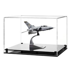 Display Case for a Scale Model Plane with a Modern Base (Choice of Colours)