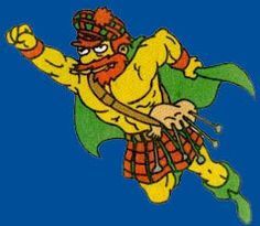 Super Willie and his Bagpipes.LOL.