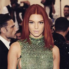 Pin for Later: Celebrities Get Epic Makeovers With Red Hair and Freckles Kendall Jenner