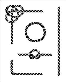 Rope stencil from The Stencil Library SPECIAL INTEREST range. Stencil code by saphyreart Stencil Font, Sign Stencils, Stencil Designs, Stencils Online, Buy Gemstones, Beads Online, Printable Adult Coloring Pages, Doodle Patterns, Pyrography