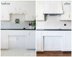 Diy Kitchen Cabinets, Kitchen Redo, Kitchen Remodel, Kitchen Design, White Cabinets, Kitchen Ideas, Kitchen Updates, Pantry Ideas, Kitchen Inspiration