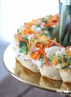 Veggie Pizza Wreath   inspiredbycharm.com