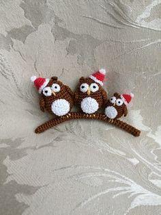 Owl crochet christmas ornament free pattern