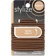 Shop for No-Slip Grip Elastics, Brown by Stylize Luxury Beauty, Hair Ties, Hair Accessories, Brown, Shop, Products, Ribbon Hair Ties, Hair Tie, Chocolates