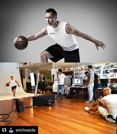 Image by @erichsaide |  Ball time. Behind the scene when working with Steve Nash…