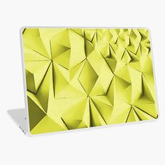 """""""Yellow fractals pattern, geometric abstraction"""" Laptop Skin by cool-shirts 