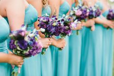 Turquoise & Purple Wedding - Petal Play Design