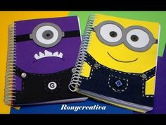 Oh my gosh. I just love minions. This s just adorable. Foam Crafts, Diy Crafts, Notebook Diy, Diy Back To School Supplies, Minion Card, Despicable Me Party, School Notebooks, Grafik Design, Diy Projects To Try