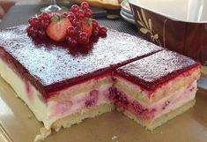 Vanilkový dort s malinami Czech Recipes, Ethnic Recipes, Tiramisu, Sweet Tooth, Cheesecake, Food And Drink, Pudding, Snacks, Baking