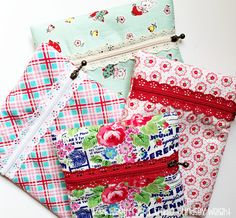 Exposed Lace Zipper Pouch {Tutorial} FWFS - Lindsey Weight