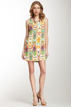Tribal Print Shift Dress by Peach Love Cream on @HauteLook