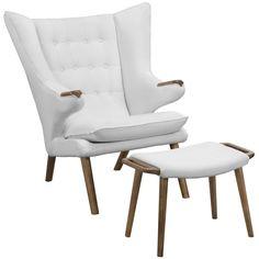 Bear Lounge Chair and Ottoman Set