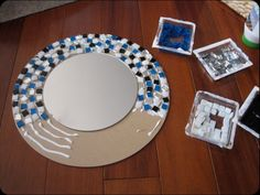 385cd  tutorial mosaic mirror DIY Mosaic Projects With Which You Can Change Your Home's Décor Projects Mosaic Homes Décor Change