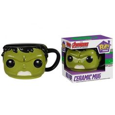 Hulk up your morning coffee or soup and add the memorable design of Pop! Vinyl Figures to spice up the breakfast experience! The Hulk Pop! Home 12 oz. Mug captu