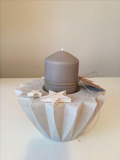 DIY Geschenk - Kerzenhalter aus Beton Stern Weihnachten