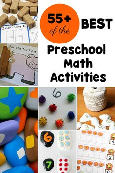 So many hands-on, multi-sensory math activities for preschoolers! These preschool math activities are sure to engage the kids as they explore early math. Preschool Teacher Tips, Early Learning Activities, Early Childhood Activities, Math Activities For Kids, Preschool Learning Activities, Math For Kids, Number Activities, Lesson Plans For Toddlers, Preschool Lesson Plans