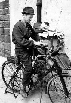 arrotino su bicicletta mestieri del passato