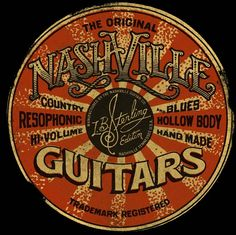 Nashville Guitars by Christopher Martin, via Behance
