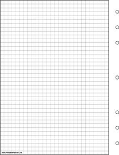This daily planner page of grid or graph paper goes on the left-hand side of your executive organizer sized datebook. It is oriented vertically. Free to download and print